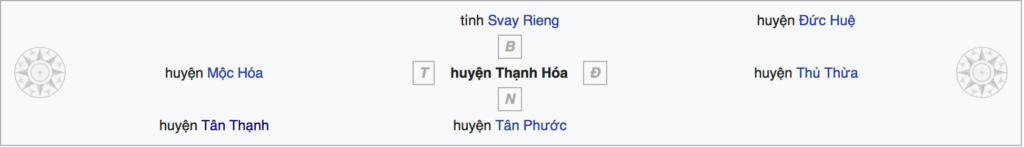 Huyện Thạnh Hoá tỉnh Long An