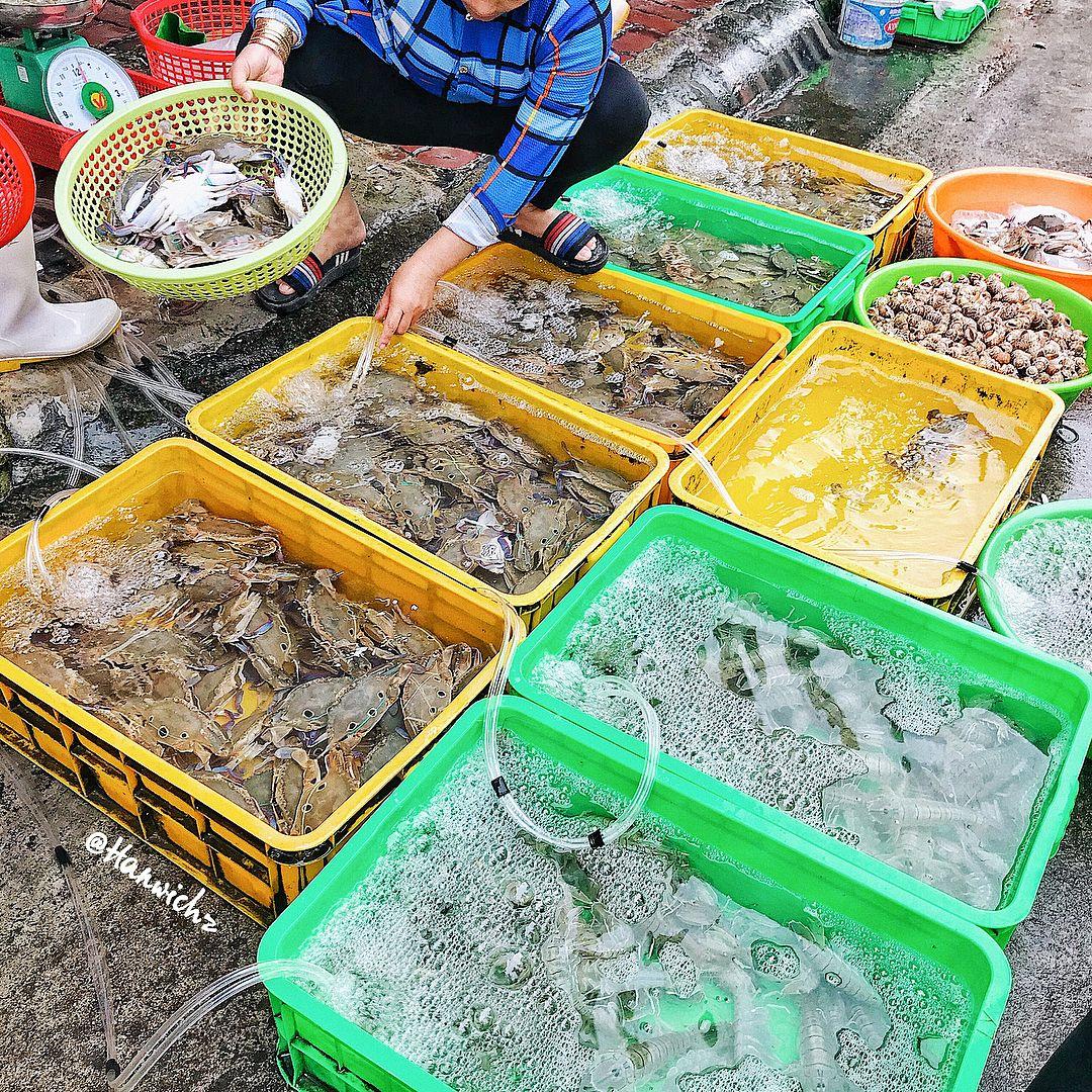 Chợ hải sản tại Vũng Tàu